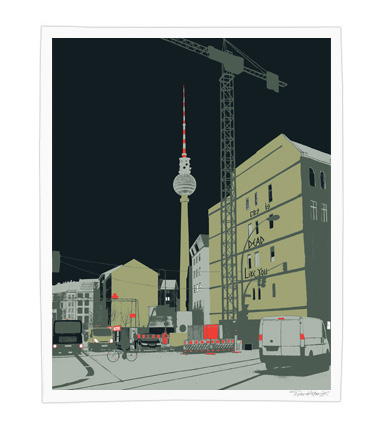 Arkitip, Inc. | Printed Matter | Evan Hecox | Berlin Tower Print :  site specific rostarr hollywood experimental jetset